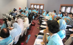 SMK Convent Lebuh Light teachers attending the Blue Ocean Strategy workshop at DISTED Hospitality Campus
