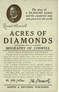 Acres of Diamonds speech by Russell Conwell, founder of Temple University: